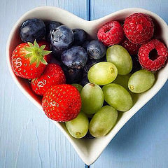 heart bowl berries